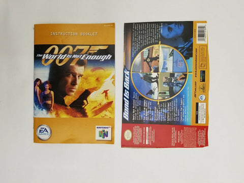 2000 Nintendo 64 N64 007 The World is Not Enough instruction manual / booklet