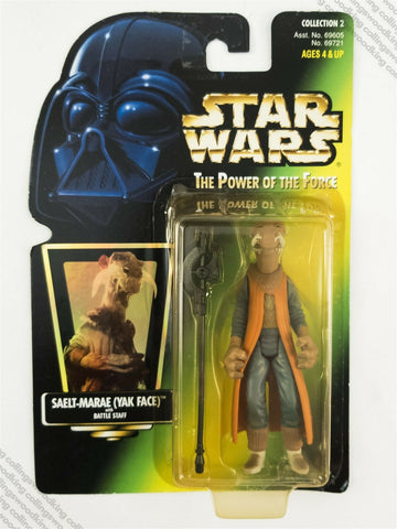 1997 Kenner Star Wars POTF2 Saelt-Marae (Yak Face) action figure MOC - hologram