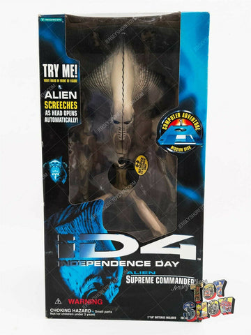 1996 Trendmasters iD4 Independence Day Alien Supreme Commander action figure MIB