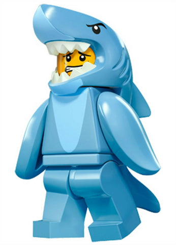 2016 LEGO #71011 Minifigures Series 15 #13 Shark Suit Guy minifig