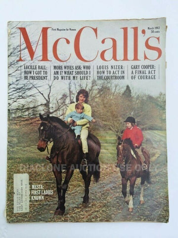 McCall's magazine March 1963 Jackie Kennedy JFK