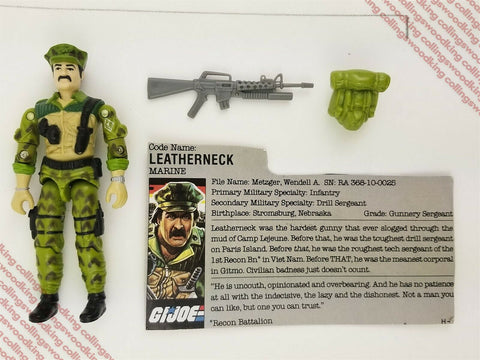 "Vintage 1986 Hasbro G.I. Joe Leatherneck 3 & 3/4"" action figure - C9 complete"