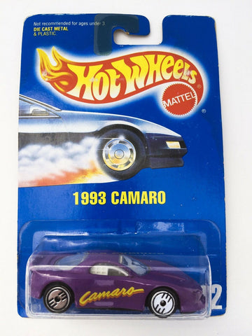 Vintage 1991 Mattel Hot Wheels #202 1993 Camaro mint on card MOC