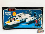 Vintage 1983 Kenner Star Wars ROTJ Y-Wing Fighter vehicle complete in box MIB
