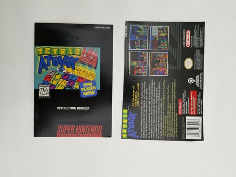 1996 Super Nintendo SNES Tetris Attack instruction manual / booklet