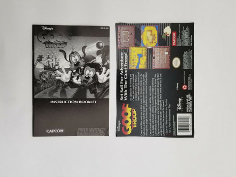 Super Nintendo SNES Goof Troop instruction manual / booklet