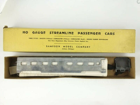 Vintage Sampson HO train #SL-219 metal Streamline Corrugated Pullman Car MIB