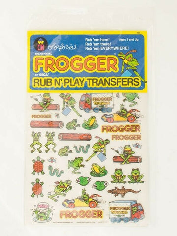 Vintage 1982 Colorforms Frogger transfers MISP Presto Magix arcade
