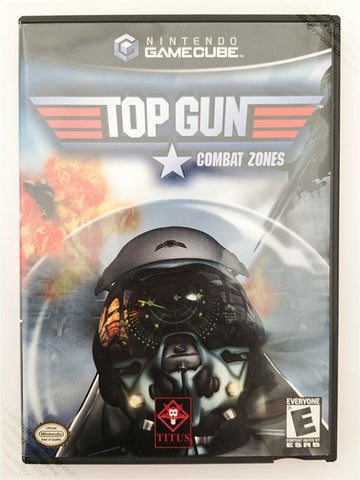 2002 Nintendo Gamecube Top Gun: Combat Zones game - good