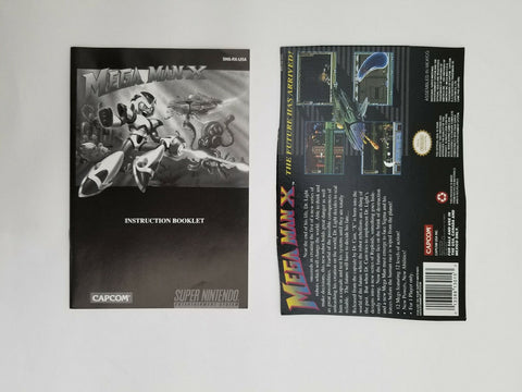 Super Nintendo SNES Mega Man X instruction manual / booklet