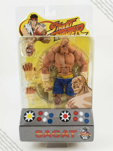 "2004 SOTA Street Fighter Round 1 Sagat 7"" action figure MIP / MOC - Capcom"