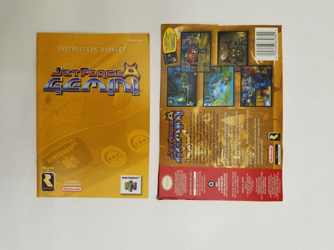 1999 Nintendo 64 N64 Jet Force Gemini instruction manual / booklet