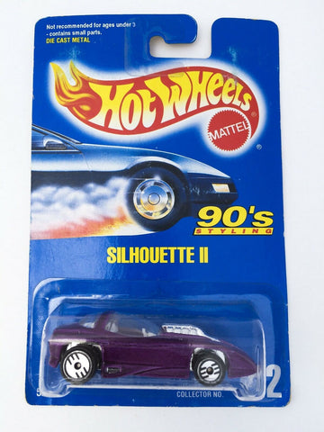 Vintage 1991 Mattel Hot Wheels #212 Silhouette II 90's Styling mint on card MOC
