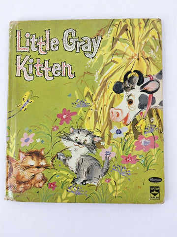 1964 Whitman Top Top Tales Little Gray Kitten #2451 hardcover children's book
