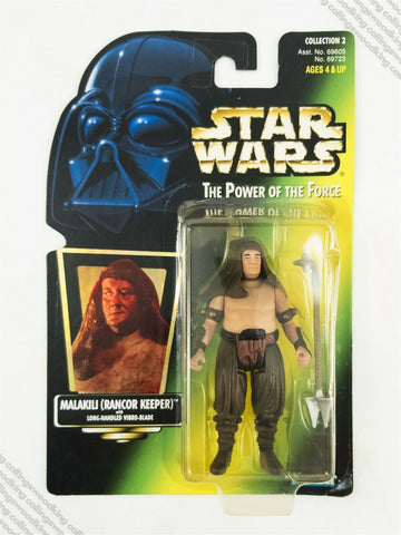 1997 Kenner Star Wars POTF2 Malakili Rancor Keeper action figure MOC - hologram