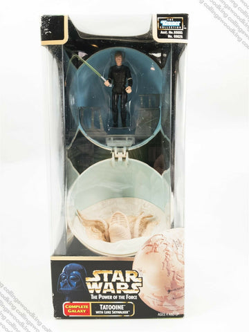 1998 Kenner Star Wars POTF2 Complete Galaxy Tatooine with Luke Skywalker MISB