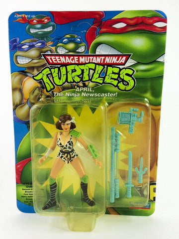 Vintage 1992 Teenage Mutant Ninja Turtles April the Ninja Newscaster MOC TMNT