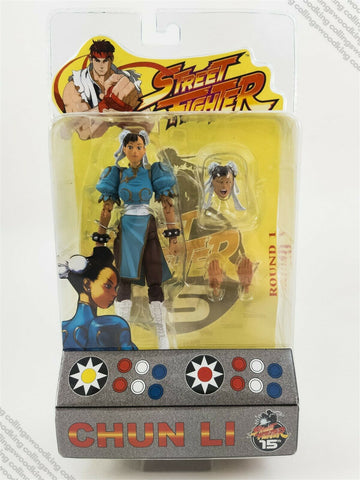 "2004 SOTA Street Fighter Round 1 Chun Li 6"" action figure MIP MOC lt. blue chase"