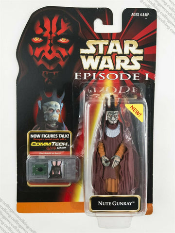 "1999 Hasbro Star Wars Episode 1 Nute Gunray 3 & ¾"" action figure MOC"