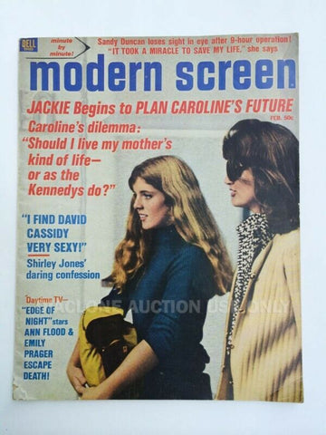 Dell Modern Screen magazine Feb. 1972 Jackie Caroline Kennedy cover