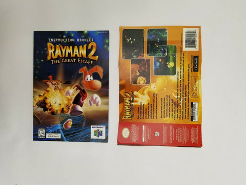 1999 Nintendo 64 N64 Rayman 2 The Great Escape instruction manual / booklet