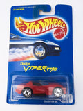Vintage 1991 Mattel Hot Wheels #210 Dodge Viper RT/10 mint on card MOC