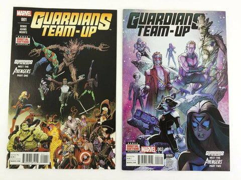 Marvel Guardians Team-Up 2015 #1 & 2 comic book lot - NM of the Galaxy Avengers