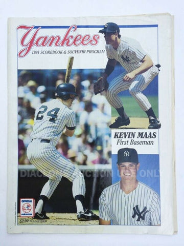 1991 New York Yankees program & scorecard MLB baseball