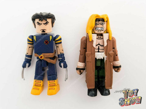 2003 Marvel Minimates Ultimate X-Men Wolverine & Sabretooth figures - mint