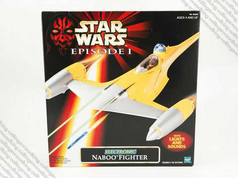 1998 Hasbro Star Wars Episode 1 TPM Electronic Naboo Fighter vehicle MISB