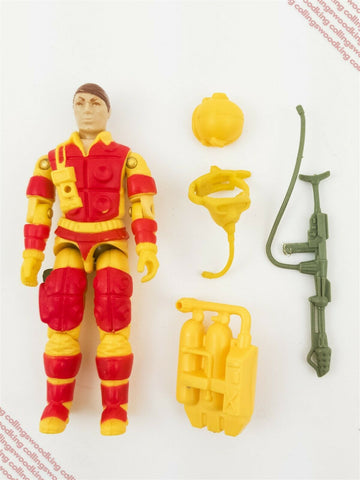 "Vintage 1984 Hasbro G.I. Joe Blowtorch 3 & 3/4"" action figure C8.5 complete"