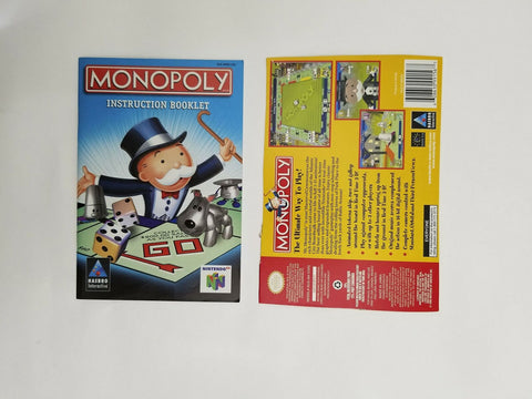 1999 Nintendo 64 N64 Monopoly instruction manual / booklet