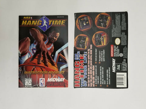 1996 Super Nintendo SNES NBA Hang Time instruction manual / booklet
