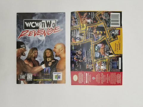 1998 Nintendo 64 N64 WCW / NWO Revenge instruction manual / booklet
