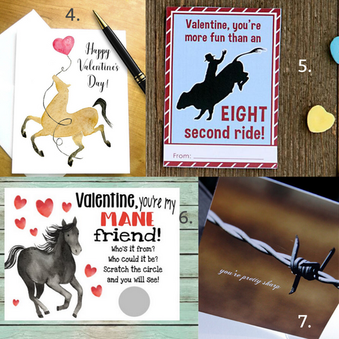 Cowgirl Valentine Cards