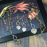 Real aspen leaf and turquoise jewelry by Buckaroo Bling
