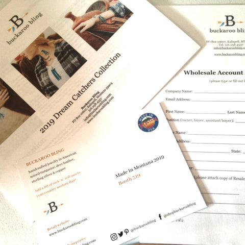 Line Sheets and postcards - Buckaroo Bling