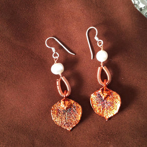 Natural aspen leaf earrings by Buckaroo Bling
