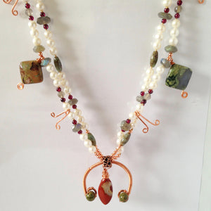 Copper squash blossom necklace by Buckaroo Bling