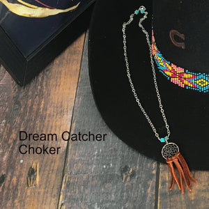Unrepeatable: Sterling Silver Dream Catcher Choker Necklace