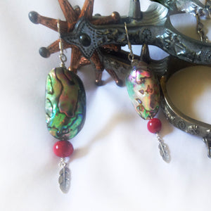 Abalone shell earrings by Buckaroo Bling