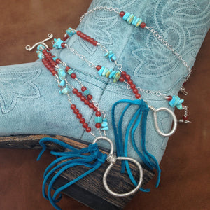 Sterling silver and turquoise bracelet by Buckaroo Bling