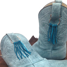 Load image into Gallery viewer, Boot Bling leather fringe accessories by Buckaroo Bling