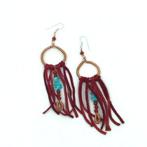 DCG003-C long statement earrings