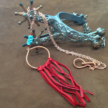 Load image into Gallery viewer, DCG004-C Simple pendant dream catcher necklace with red fringe