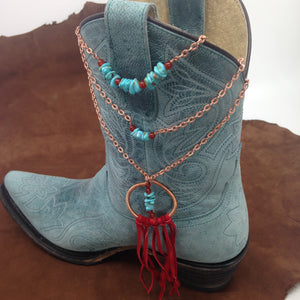 Layering copper and turquoise necklaces by Buckaroo Bling