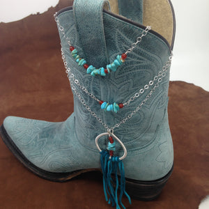 Sterling silver and turquoise layering necklaces by Buckaroo Bling