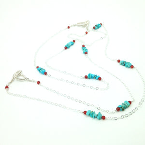 DCG008-S sterling silver and turquoise layering necklaces