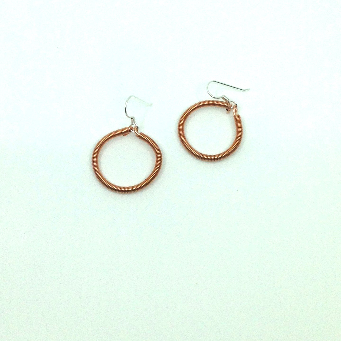 Hoop Earrings in Copper and Sterling Silver