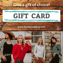 Load image into Gallery viewer, Gift Cards for Buckaroo Bling online store